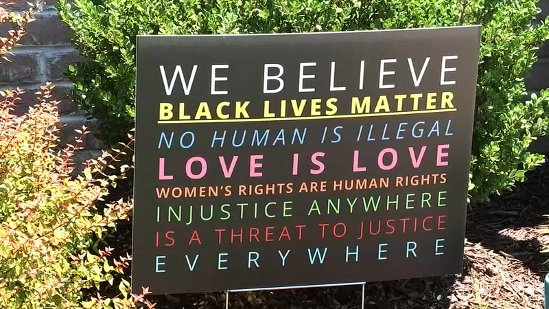 Black Lives Matter yard signs spark debate within Briar Chapel as .