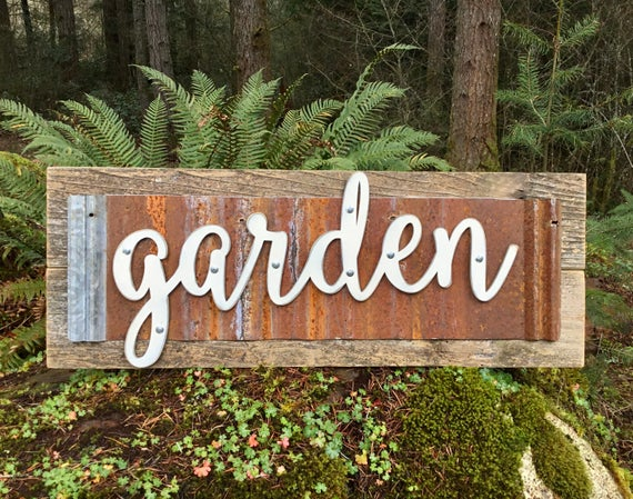 Wood Signs Garden Sign Wooden Signs Garden Signs Rustic | Et