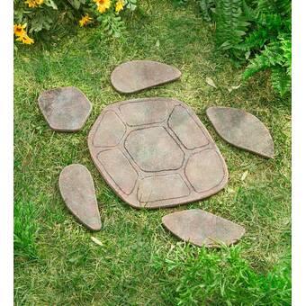 Wind & Weather Turtle Garden Stepping Stone & Reviews | Wayfa
