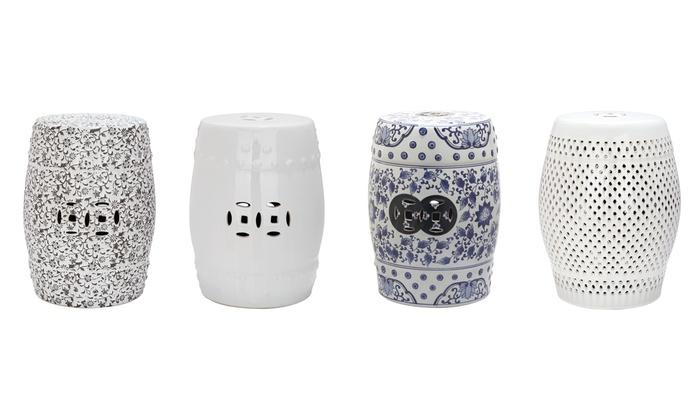 Safavieh Ceramic Garden Stool | Group