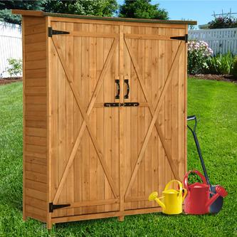 """6056-1400 MCombo 64"""" H Fir Wooden Shed Garden Storage ."""