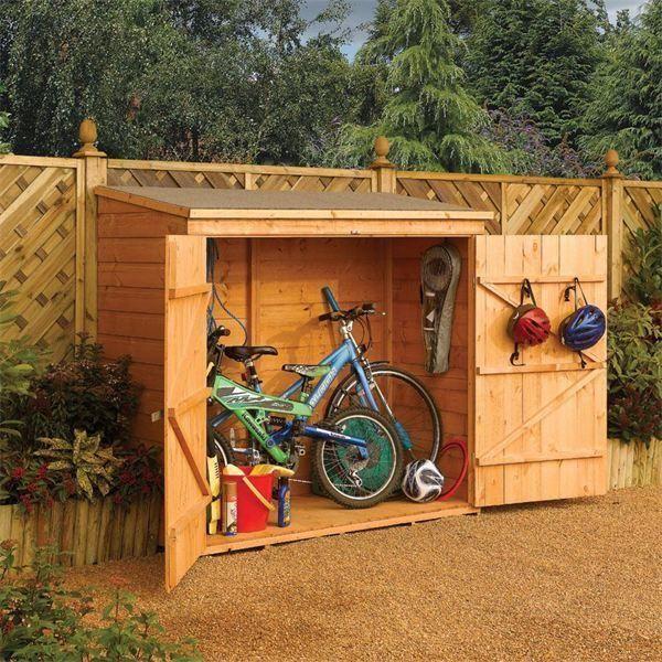 Garden Wall Storage Chest / Wooden Bike Storage Unit | Outdoor .