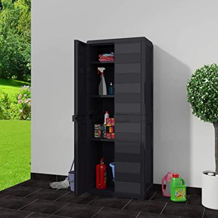 Amazon.com : Tidyard Outdoor Garden Storage Shed Indoor Tall .