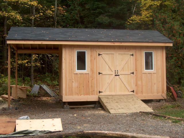 Pine Board and Batten Shed - Fine Homebuilding | Garden storage .