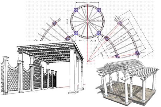 Custom Pergola & Garden Structure Desig