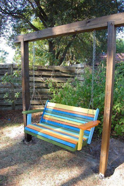 Backyard swing | Backyard swings, Garden swing, Backya