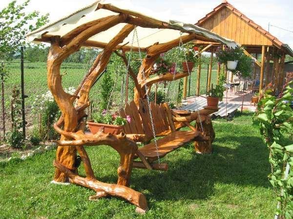 Amazing Rustic Swings | Rustic gardens, Wood, Cool art projec