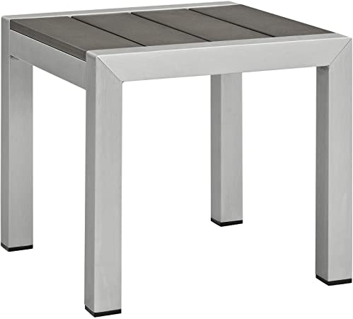 Amazon.com : Modway Shore Aluminum Outdoor Patio Side Table in .