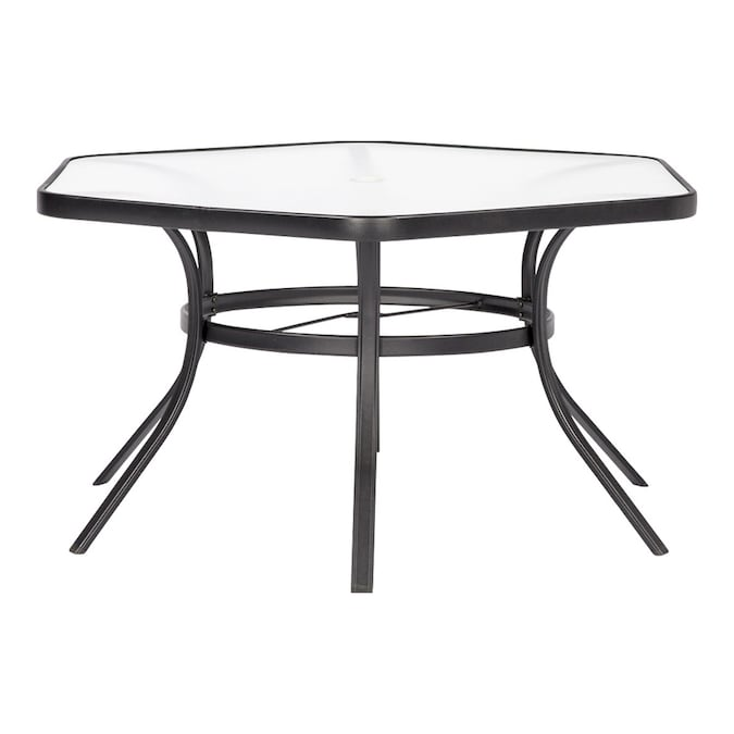 Garden Treasures - Pelham Bay Hexagon Outdoor Dining Table 50-in W .