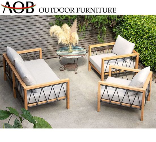 Chinese Modern Patio Outdoor Garden Furniture Aluminium Dining .