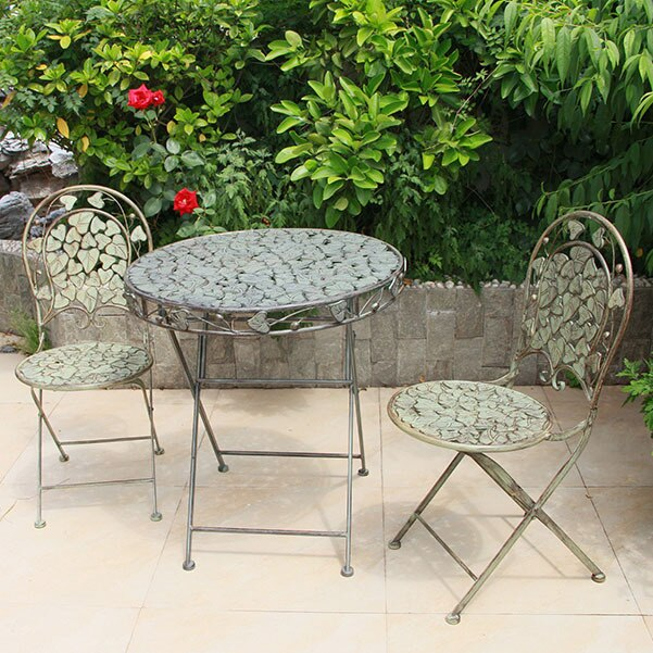 Garden Set Outdoor Furniture metal 2 chairs & 1 table sets .