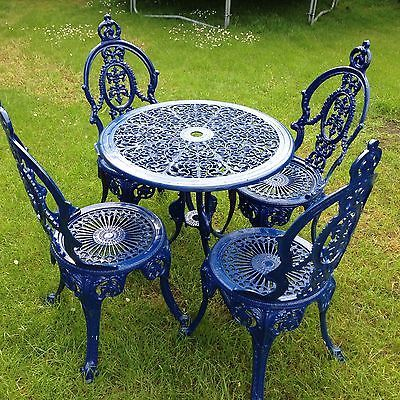 Cast Iron Table / Garden Chair Set | Outdoor tables and chairs .