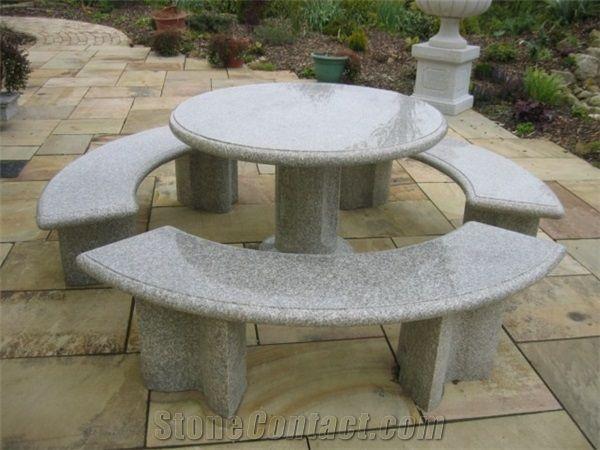 Granite Garden Table Sets, Granite Furniture Outdoor, G687 Granite .