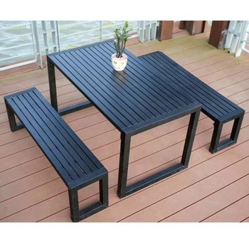 Modern Design Black Aluminum Outdoor Garden Furniture Table Chair .