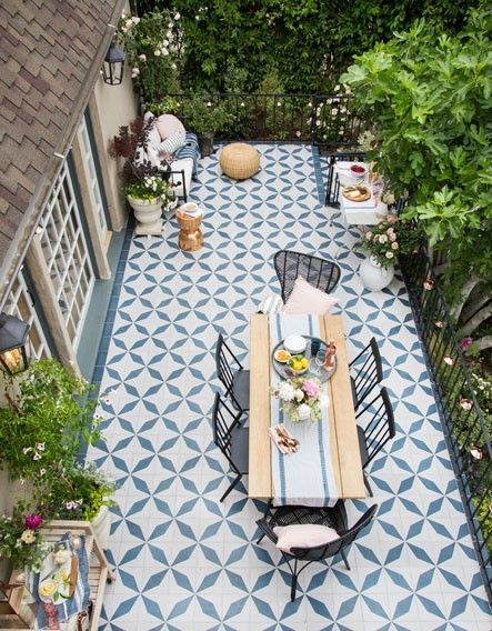 How to Add a Pop of Color to Your Outdoor Space with Cement Tiles .