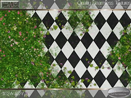 Second Life Marketplace - Texture Town Seamless Floral Garden Tile .