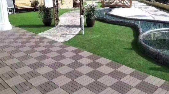 China WPC Co-Extrusion Terrace Garden Floor Tiles Wooden DIY Floor .