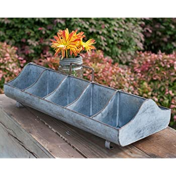 Amazon.com: Galvanized Steel Metal Country Garden Planter Feed .