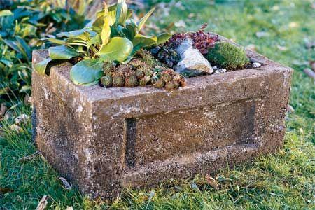 How to Make a Hypertufa Garden Trough | Garden troughs, Diy .