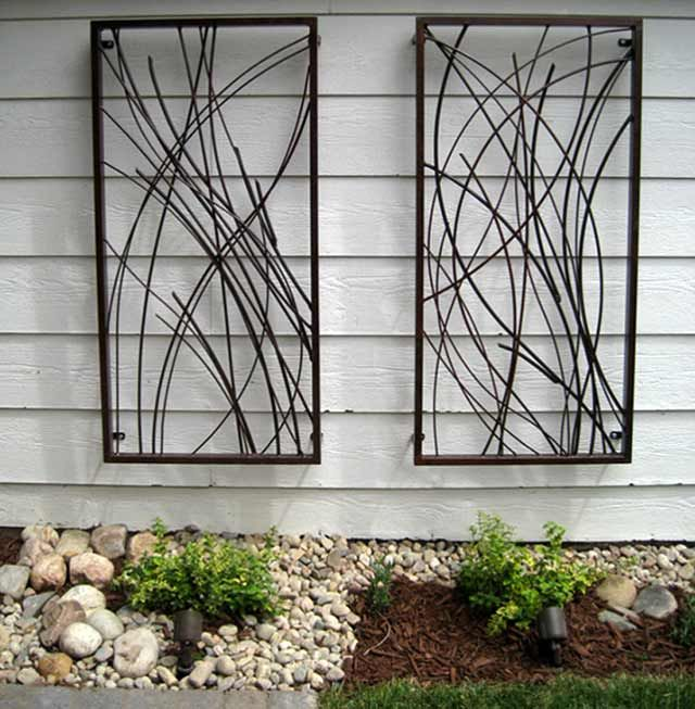 Metal Garden Wall Art Outdoor Metal Garden Wall Art Outdoor Uk .
