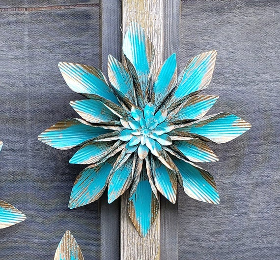 Metal wall Flowers/ Garden Wall Art/ Fence Flowers/ Metal | Et