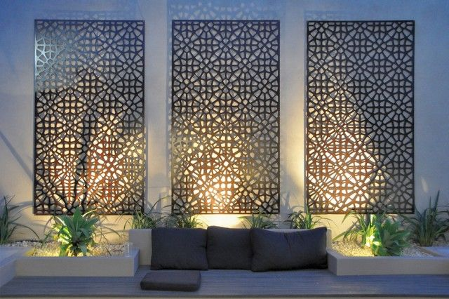 Wall Art Designs: Best metal hanging contemporary outdoor wall art .