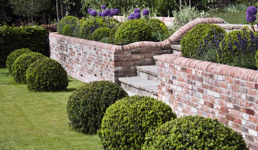 Beautiful Brick Wall Finish | Garden wall designs, Brick wall .