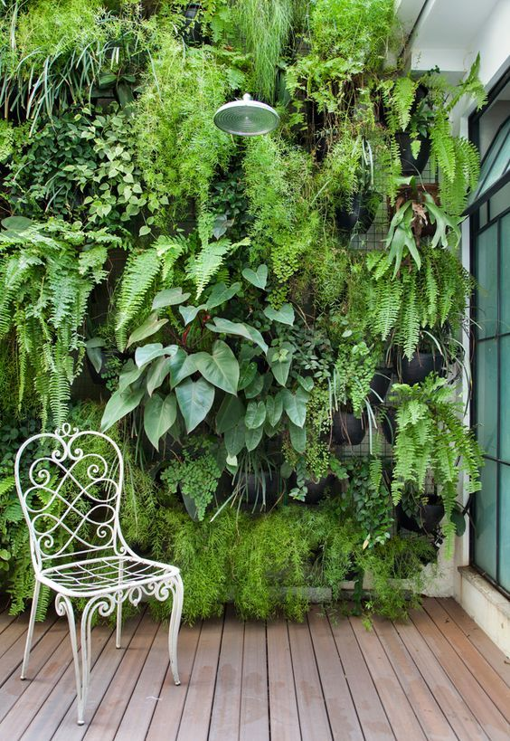 Check out some of our favorite wall garden ideas. | Vertical .