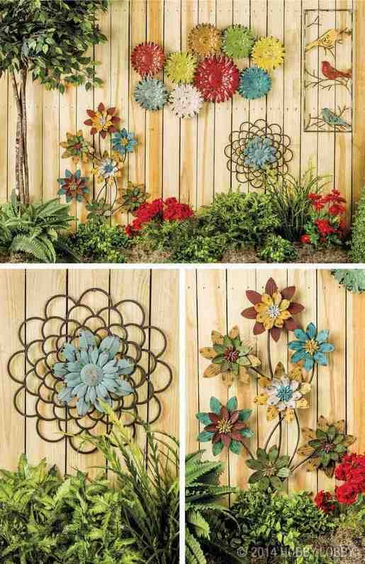 Outdoor Garden Wall Decor | Garden wall decor, Fence art, Garden a