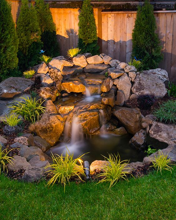 76 Backyard and Garden Waterfall Ideas | Fountains backyard .
