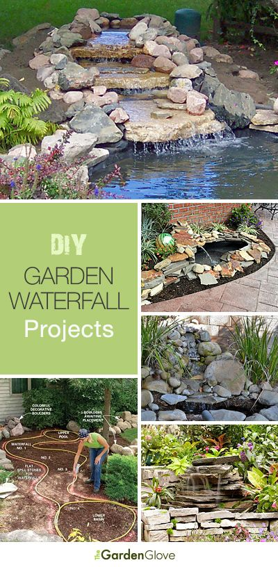 DIY Garden Waterfall Projects • The Garden Glove | Garden .