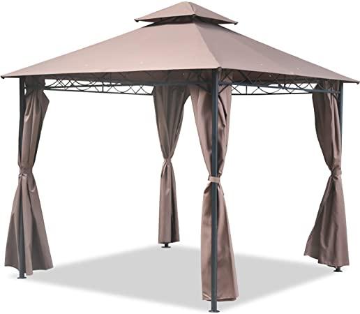 Amazon.com : FDW Gazebo Canopy Tent 10' X 10' BBQ Outdoor Patio .