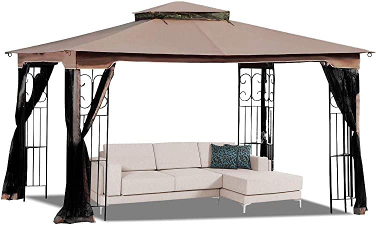 Amazon.com: MASTERCANOPY 10' x 12' Gazebo Replacement Canopy Roof .