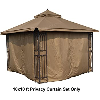 Amazon.com : ALISUN Universal 10' x 10' Gazebo Curtain Set for 4 .