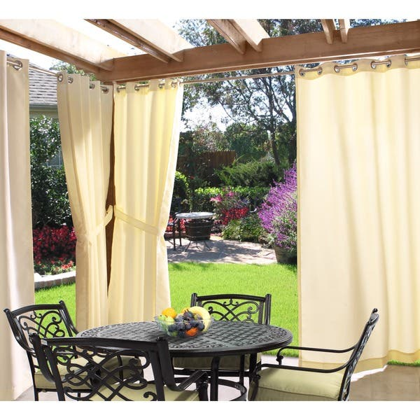 Shop Gazebo Indoor/ Outdoor Grommet Top Curtain Panel - Overstock .