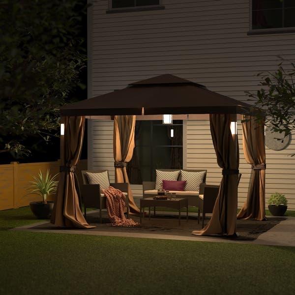 Shop Luxuriously 10 x 12 Garden Gazebo Soft Top Outdoor Patio .
