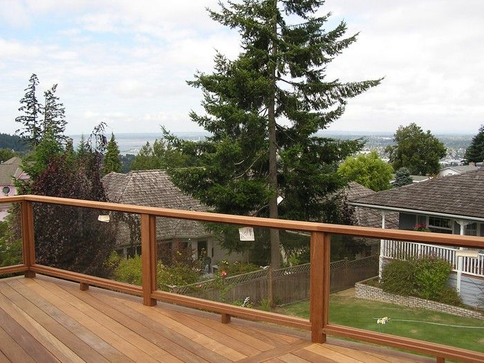 Glass Railing for Decks and Porches | Deck railing design, Deck .