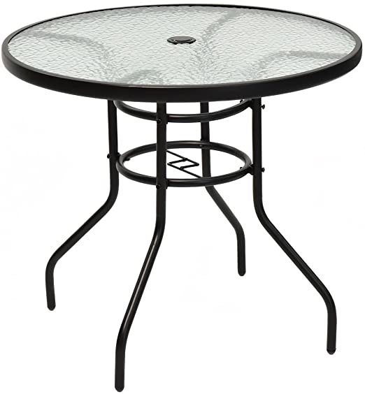 "Amazon.com: Tangkula 32"" Outdoor Patio Table Round Steel Frame ."