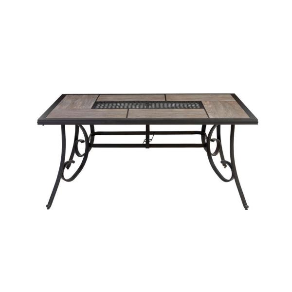 Hampton Bay Crestridge Steel Rectangular Outdoor Patio Dining .