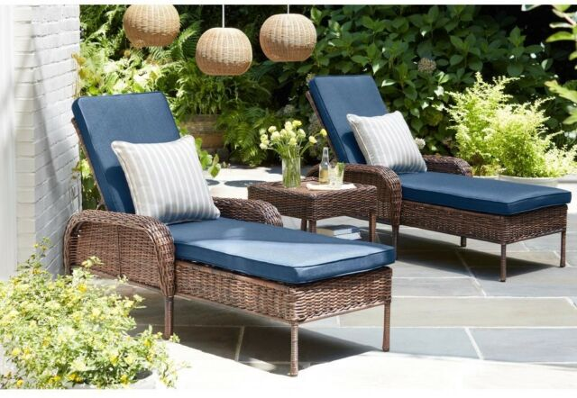 Hampton Bay Outdoor Patio Adjustable Back Steel Cushioned Wicker .