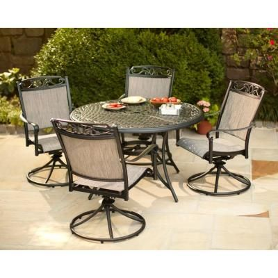 Hampton Bay Santa Maria 5-Piece Patio Dining Set-S5-ADQ10801 at .