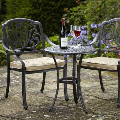 Hartman Amalfi Bistro Set in Bronze   Bistro table outdoor, Cheap .