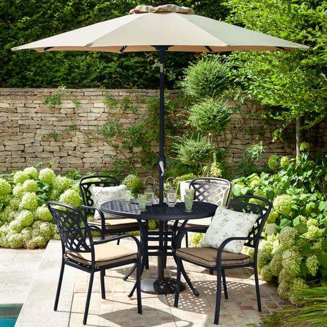 2020 Hartman Berkeley 4 Seater Round Garden Dining Table Set .