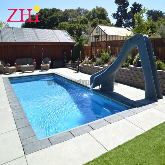 China Fiberglass Small Swimming Pool Home Outdoor 14′ - China .