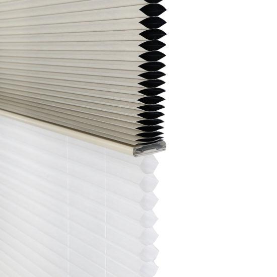 China Stardeco Sunscreen Down Bottom up Honeycomb Blinds Motorized .