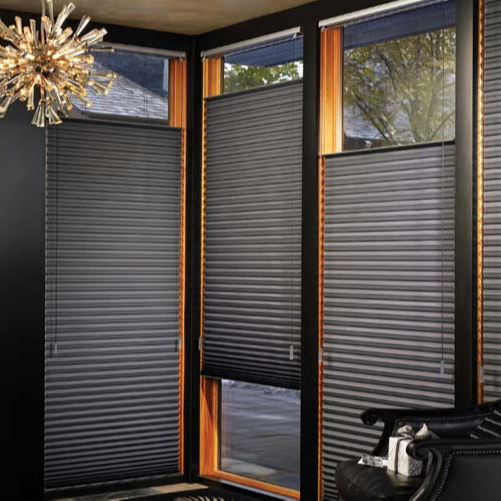 Modern Home Decor Single Cell Honeycomb Blinds Top Round Window .