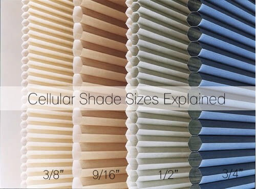 Honeycomb blinds: cell size for nois