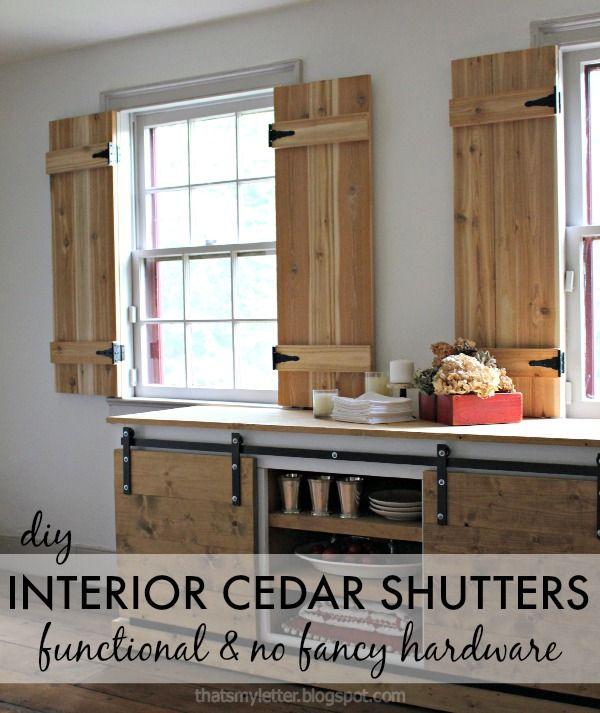 DIY Interior Cedar Shutters (Pretty Handy Girl) | Cedar shutters .