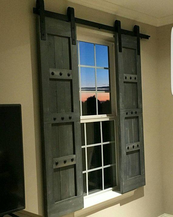 Barn Style Shutters - Window Barn Doors - Sliding Shutters | Barn .