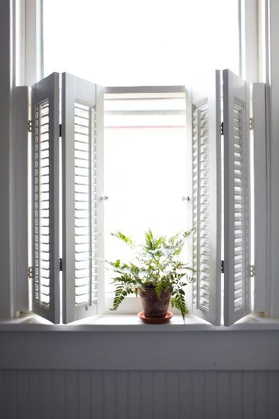 50 Nifty Fix-Ups For Less than $100 | Indoor shutters, Window .